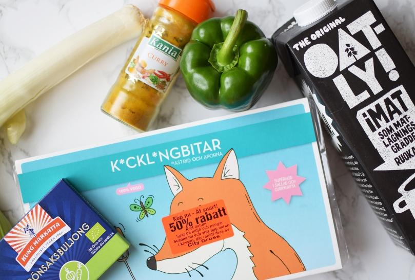 ingredienser-vegansk-kyckling-curry